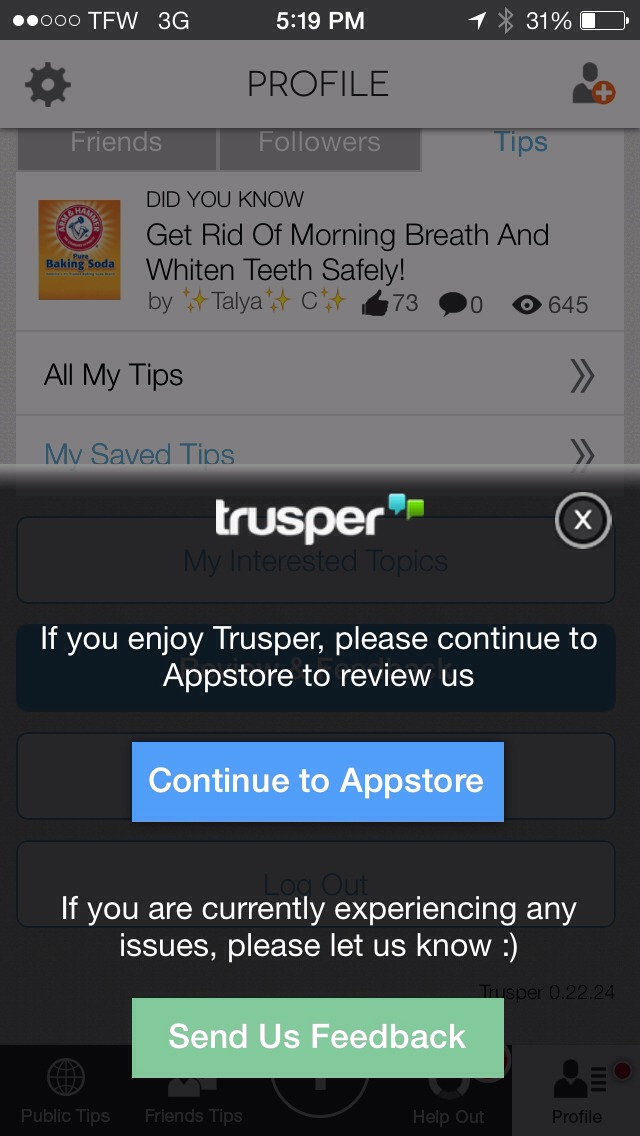 By liking this post, and sharing it with trusper friends, after so many likes, it will be submitted to Trusper as a petition to get rid of the dislike button!!