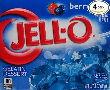 1 box of jello not sugarfree