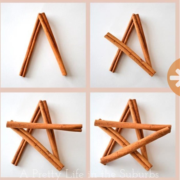 Make these adorable cinnamon stick ornaments, a fun project to do with your kids!