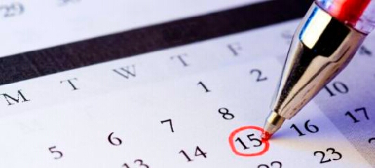 2. Having a calander around at home helps you to write down important school events or any social gathering