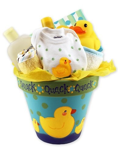 Paint a flower pot and fill it up with gifts you can do any size :)