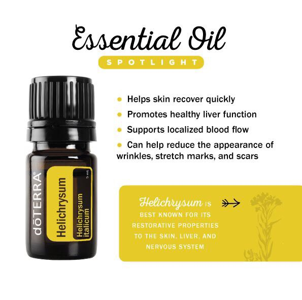 DoTERRA Helichrysum is a powerful Anti-aging Essential Oil