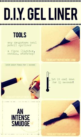 •Turn pencil liner into gel.