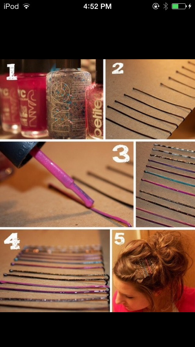 A Cool Way To Decorate Bobby Pins By Alyssa Styles Musely