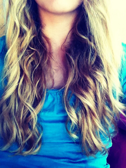 When hair is dry, gently run your fingers through your hair. You will have natural looking curls.