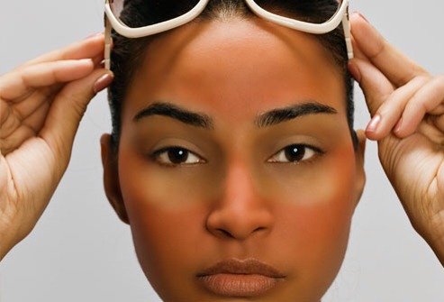 Don't Sunbathe or Tan  It's a myth that tanning clears up your skin. It's a fact that UV rays put you at risk for skin cancer, premature aging, and wrinkles. Don't lie in the sun or use a tanning booth. Also, some commonly prescribed acne medications, including retinoids that go on your skin,