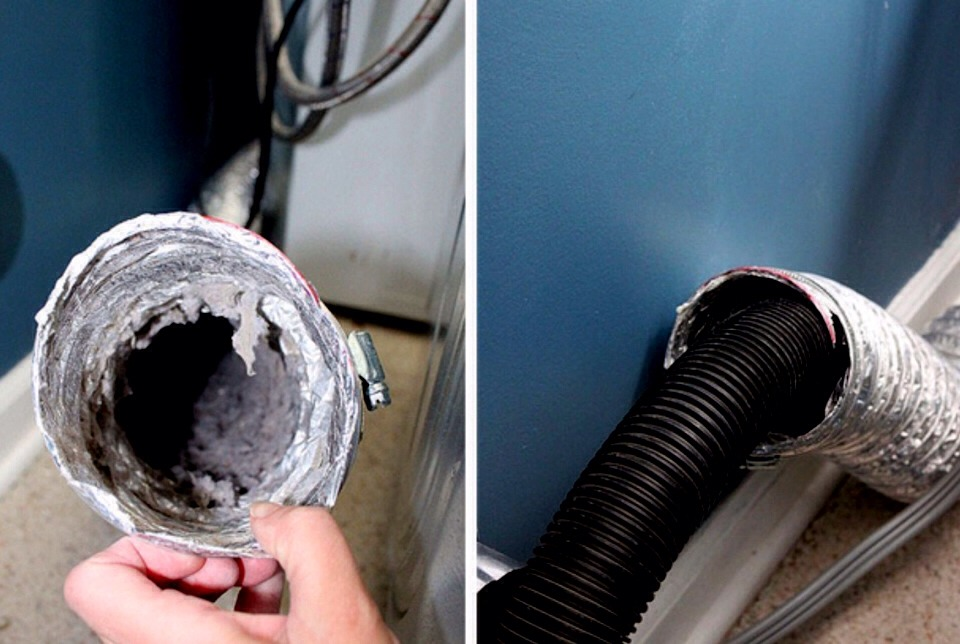 Get the lint out of the dryer vent. It can cause fires and make your dryer not work properly.