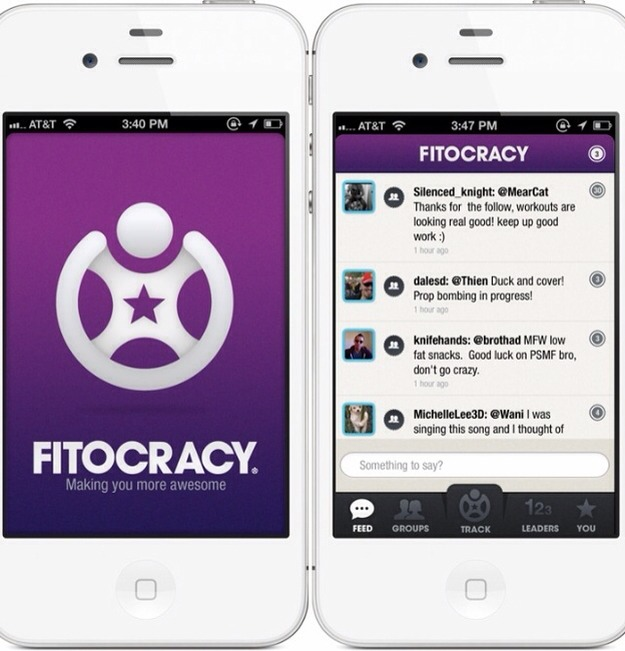 """Download the Fitocracy app and gamify your workouts.Fitocracy is an online social community that provides """"leveling up"""" challenges to fire up your inner competitive streak. Please tap for full view."""