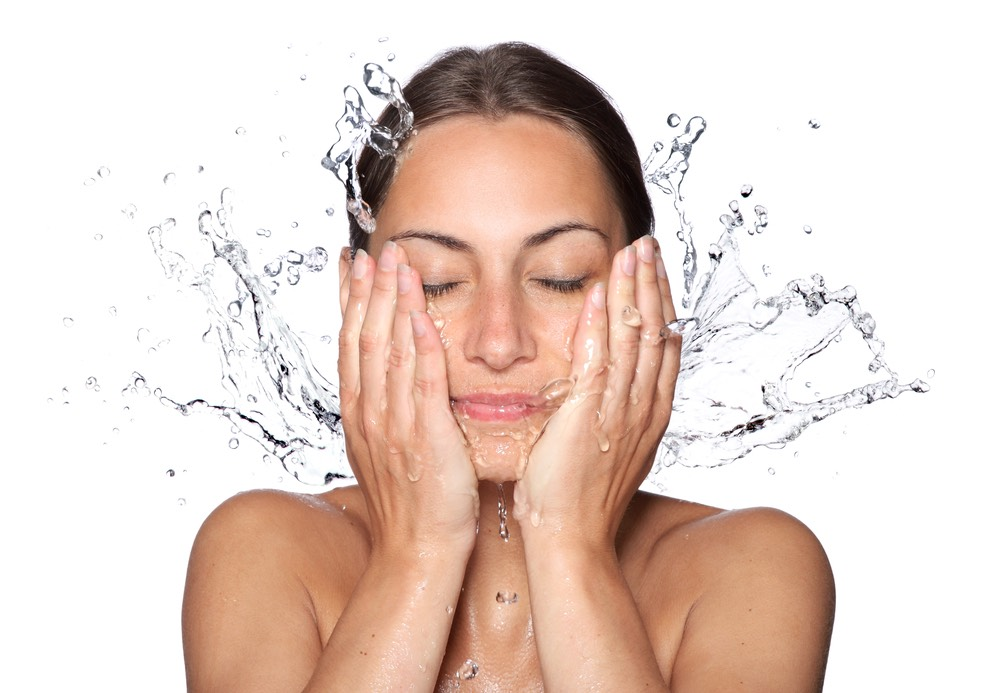 After that, take your cleanser and, in circular motions, cleanse your left cheek, right cheek, forehead and nose for 30 seconds each. Then, wash away with warm water.