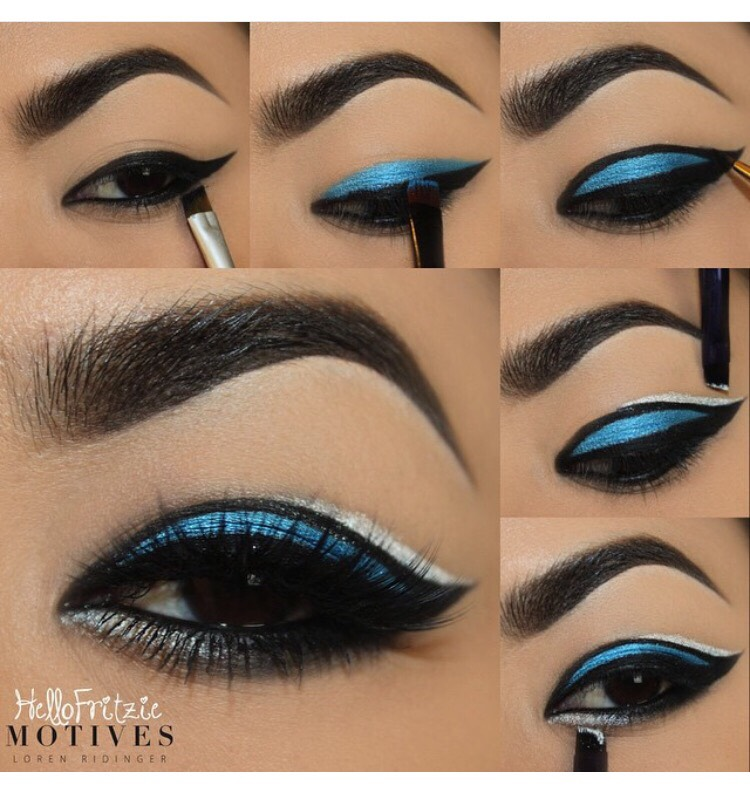 Different Ways To Wear Blue And Silver Eye Makeup 7 Stunning