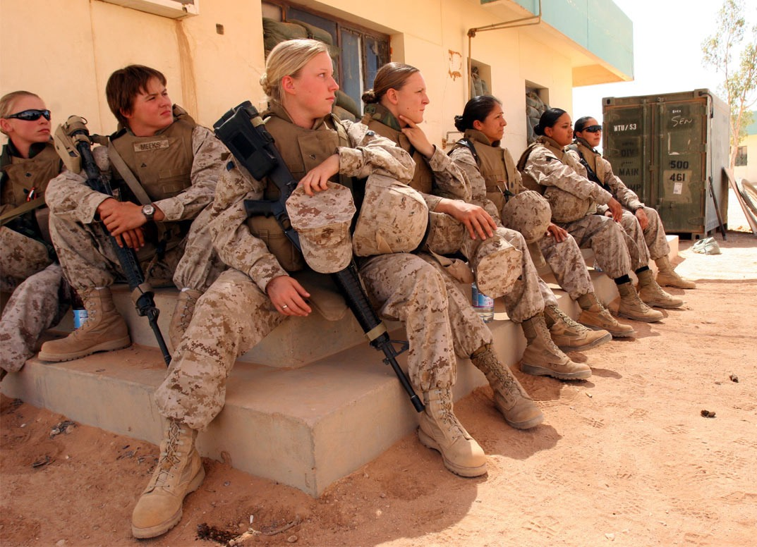 There was a time when women had no rights and they couldn't work. There are some places that are still like that. Now women can work and even join the military in most countries.   Women need to stand together and HELP other women. Don't bring them down.