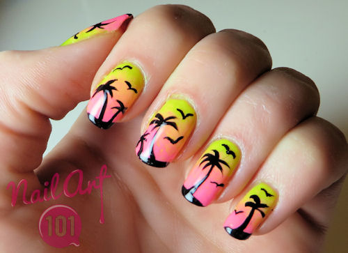 OMBRÉ PALM TREES