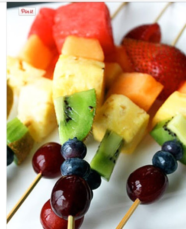 Add some long toothpicks and make some Rainbow Fruit Skewers.