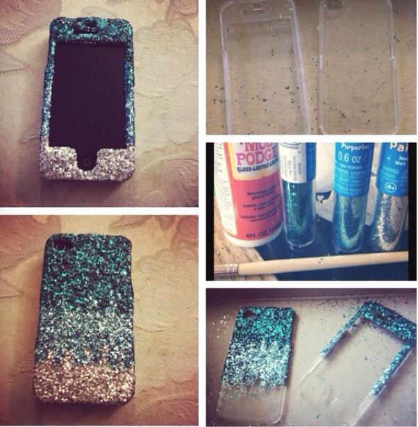3. Glitter phone case