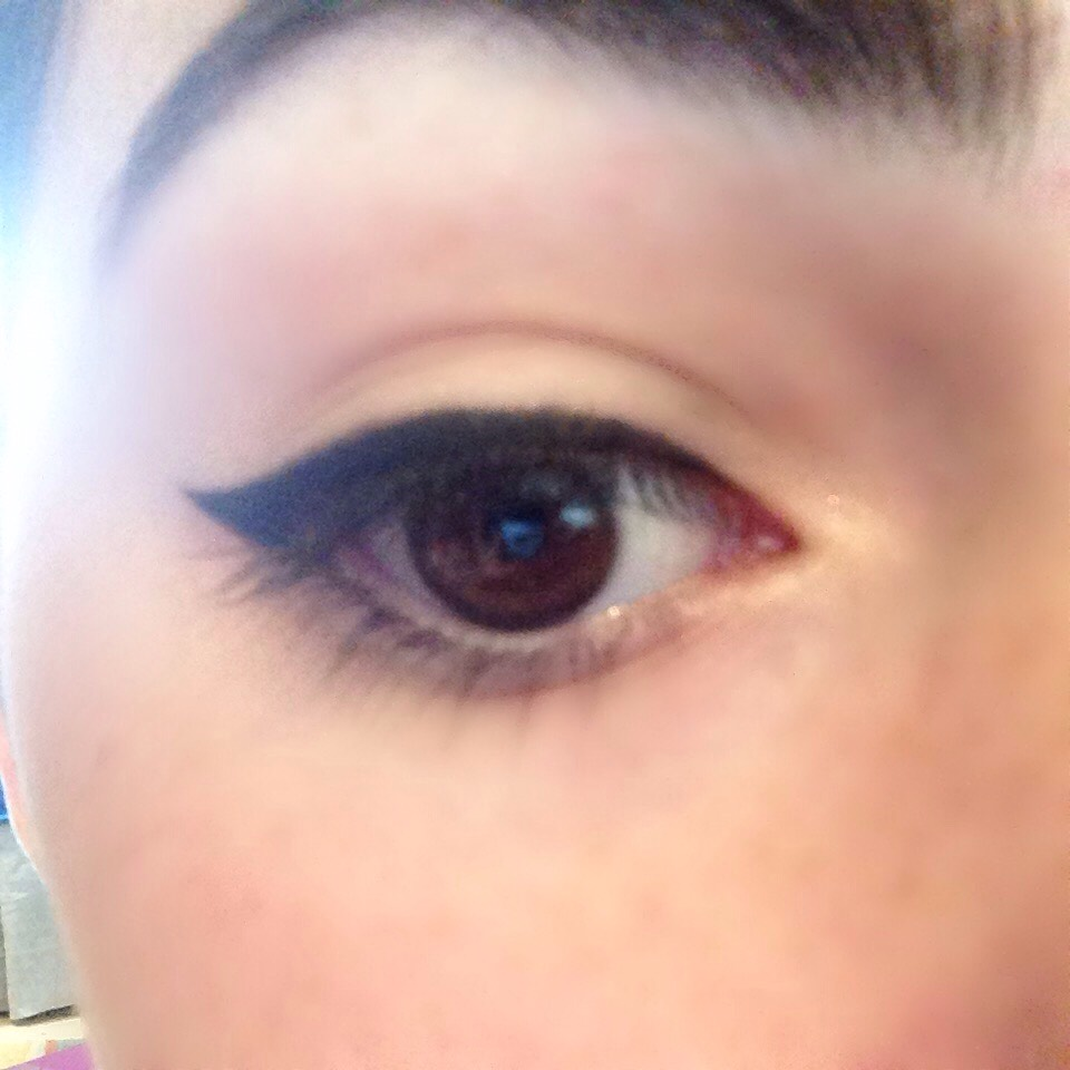 Next, fill in the line with eyeliner #2.