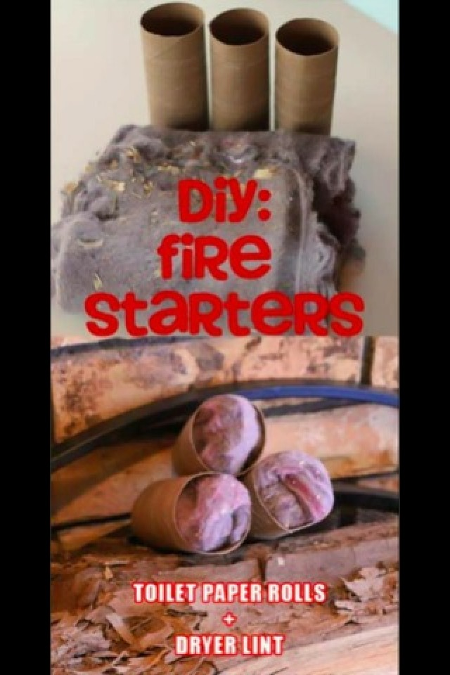 Use lint to have as fire starters