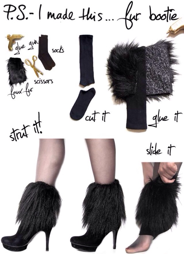 For those who like me love the fur look during the cold winter months, cute and easy to make.