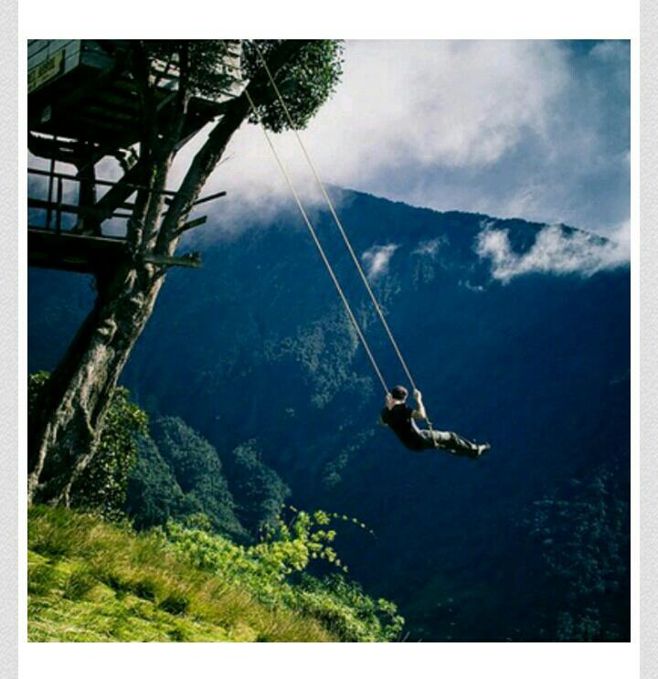 Swing at the End of the World , Baños, Ecuador