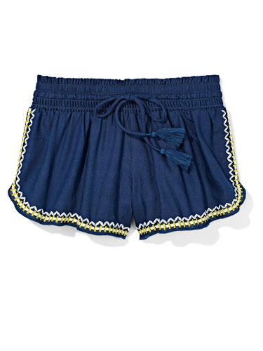Embroidered Shorts A cute design give sporty shorts a sweet touch!  Aerie shorts