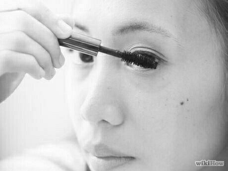 "6.Apply mascara. Start as close as possible to lids and ""shimmy"" it all the way to the tips to help prevent clumps and get a full, natural look."