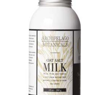 Best Bath Soak for Dry Skin Archipelago Botanicals Milk Oat Salt. Finely ground salts with a frothy mix of dried milk and oat proteins soften and smooth skin.