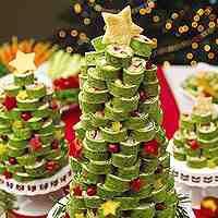 Tortilla wrap Christmas Tree