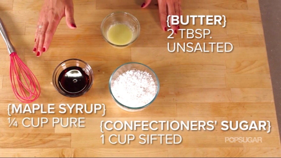 Optional! DIY maple syrup frosting. Or You can use the frosting it comes with