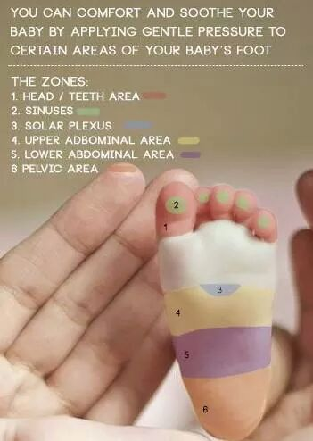 putting pressure on this places can help your baby feel better.