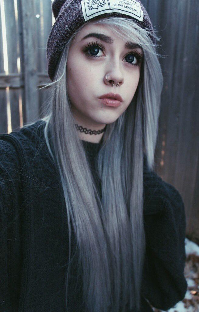 13. Pastel Goth Kawaii White Dyed Hairstyle
