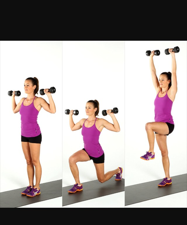 Add some variation to your lunges to increase the difficulty.