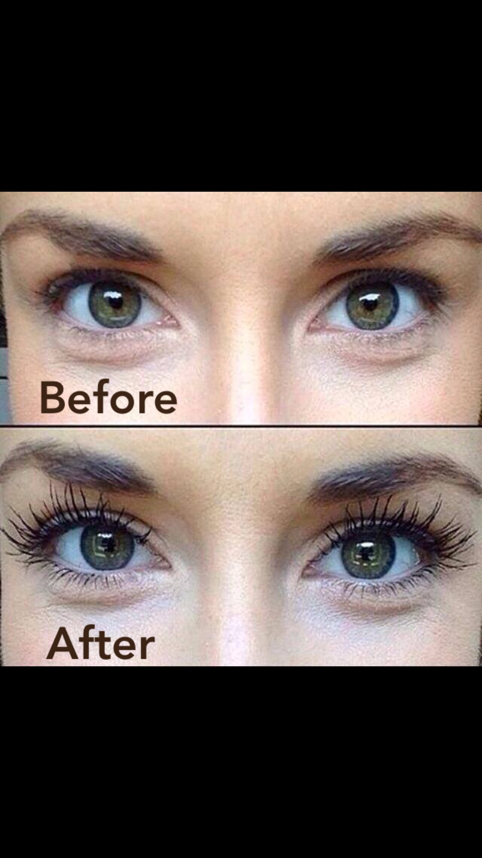 Like the look of falsies but don't have the time, patience or $$$??  Use the ALL NATURAL mascara that everyone is talking about!!  In three SUPER EASY steps, you will get the long, sleek and sexy look of falsies that no regular mascara can provide-and for only $29!!!  Gel. Fibers. Gel. Done!