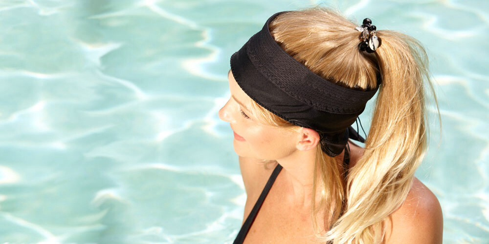 Tip #6: Swim with a ponytail or braid, the chlorine causes tons of tangles! Never pull on your hair to get the tangles out though.