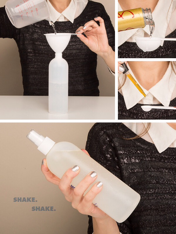 ❗️👉 To make it, simply funnel all ingredients into your spray bottle, cap it, and shake it up!