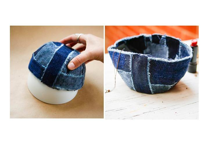 Keep adding strips until the bowl is well covered. Once the Mod Podge is dry, remove the bowl from the base and it's ready to use.