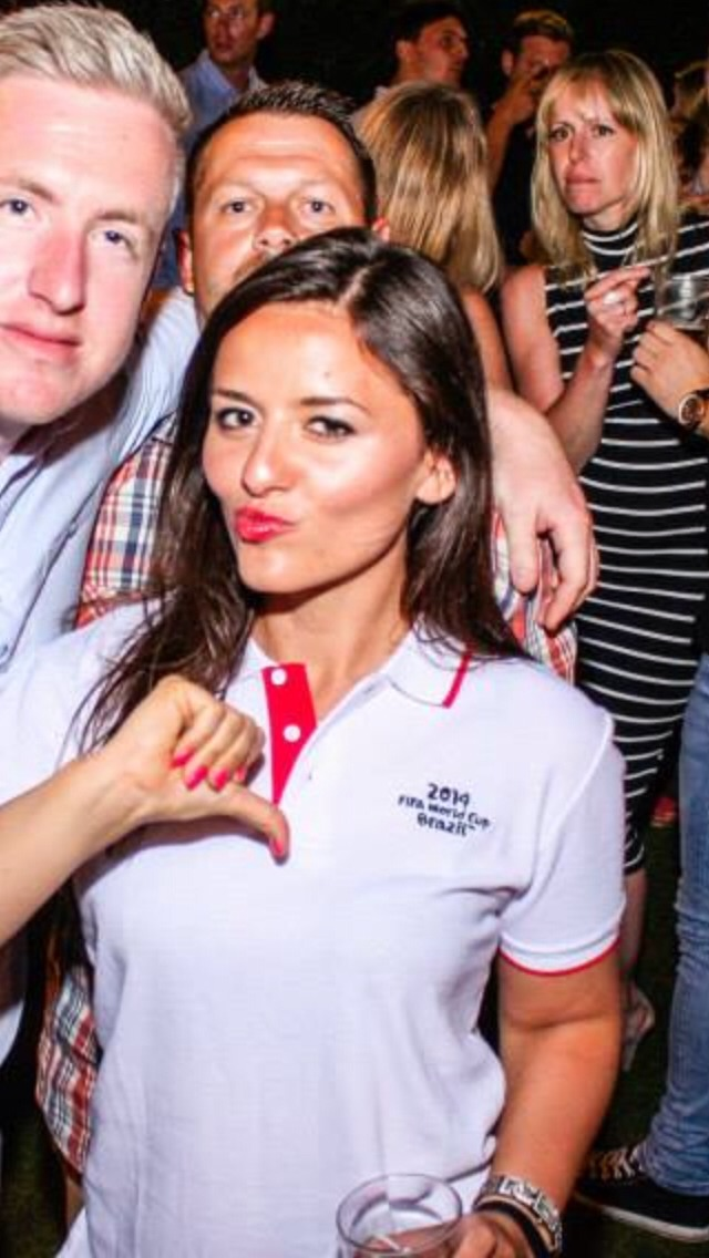 Brunettes can't go wrong with a bright red lippie the football for my homeland England 2014 was another story