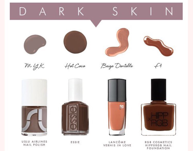 Best nude colors for dark skin