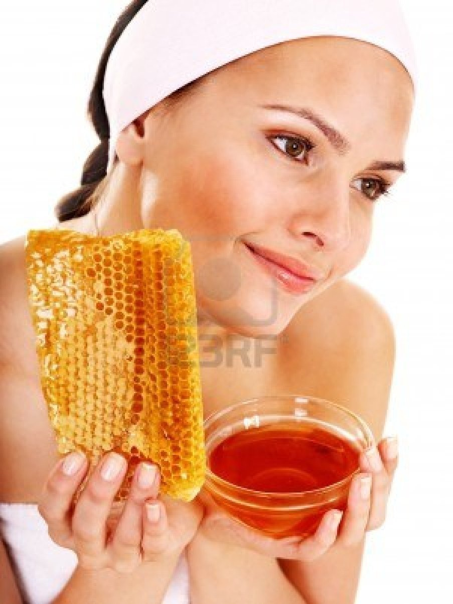 Put the honey where your black heads are and leave on for 5 minutes