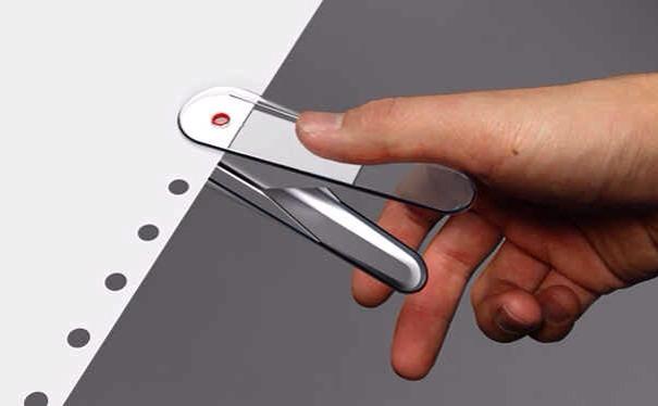 6. A transparent hole punch.
