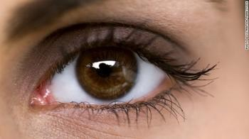 For brown eyes: 1. Redish-brown eyeshadow  2. Gold eyeshadow  3. Blue or purple eyeshadow 4. You should even try purple mascara! 5. Metallic green eyeshadow  6. Use white eyeliner on the bottom to lighten your eyes and make them appear larger