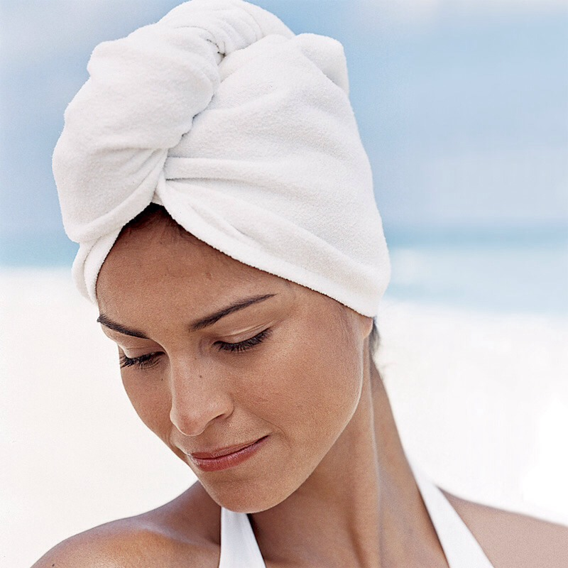 Don't put your hair up on a towel. It stretches an breaks hair.