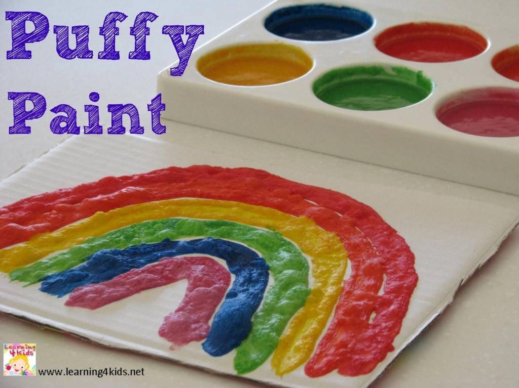 That's it you have your very own puff paints