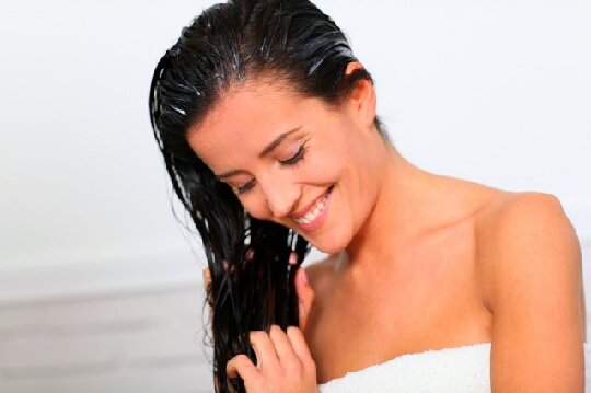 Now apply your hair mask and let it sit their for at least 30 minutes. You will know when to wash it once your hair is hard and not wet.