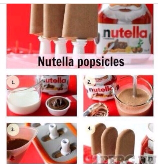 Nutella popsicles in 4 simple steps
