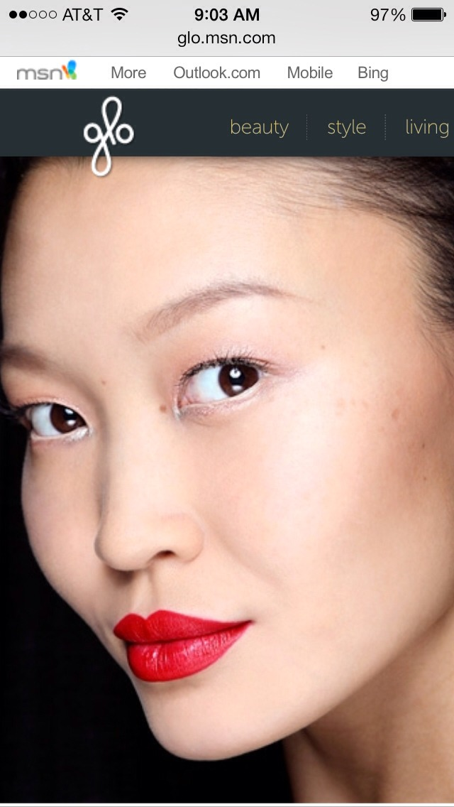 "For fair skin with warm undertones... ""Reds that are warmer harmonize with those undertones,"" according to Gerstein. For a subtle, more casual effect, pat color on with your finger instead of applying it directly from the tube."
