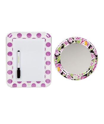 Buy a locker mirror and whiteboard to hang on the locker door!