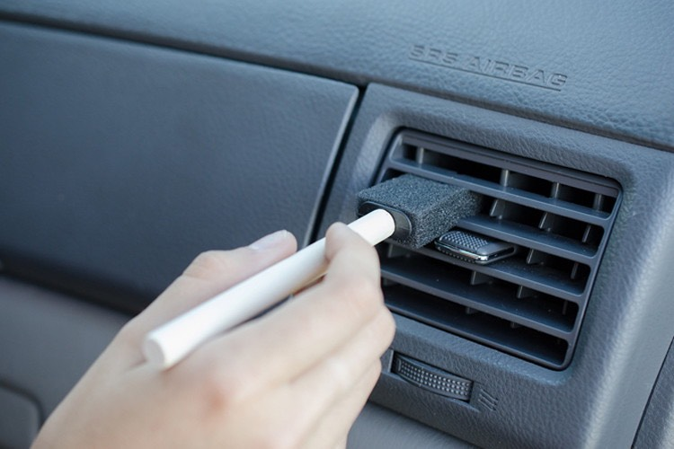 7.Dust your A/C vents with a foam craft brush.