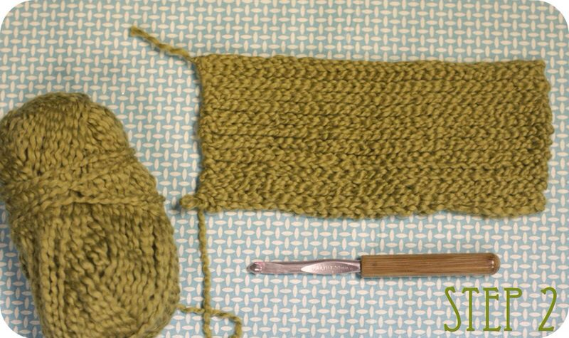 step two: crochet a rectangle the length of your measurement. make it wide enough to fit like a 'bonnet' on your head when you hold one side together. this width will be slightly different for every hat, so do as many fittings as you need to to get it just right.