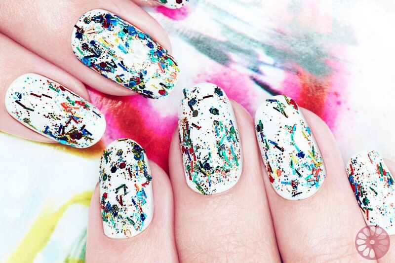 * Get a graffiti look by painting your nails and then basically scribbling polish onto them.