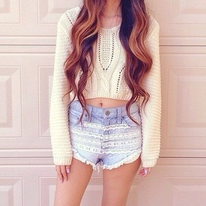 Shorts with patterns such as lace make a really cute look