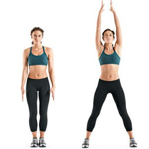 60 jumping jacks for a warm up